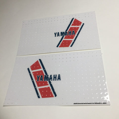 Yamaha, 1984, YZ 125, 250 Euro Tank Decal Sheets, Self Cut