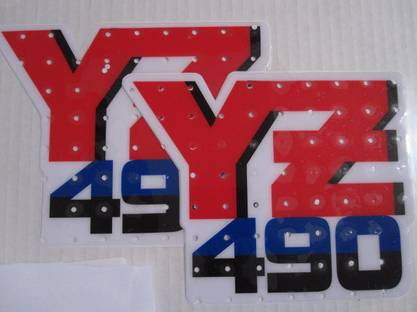 Yamaha, 1987, YZ 490, Tank Decals, Reproduction