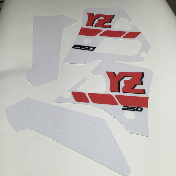 Yamaha, 1988, YZ 250, Tank and Rad Decal Kit
