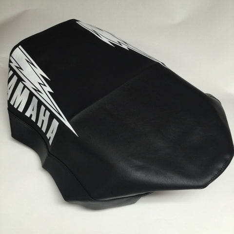 Yamaha, 1980-81, YZ 100/125, Seat Cover, with Hannah Lightning Bolt