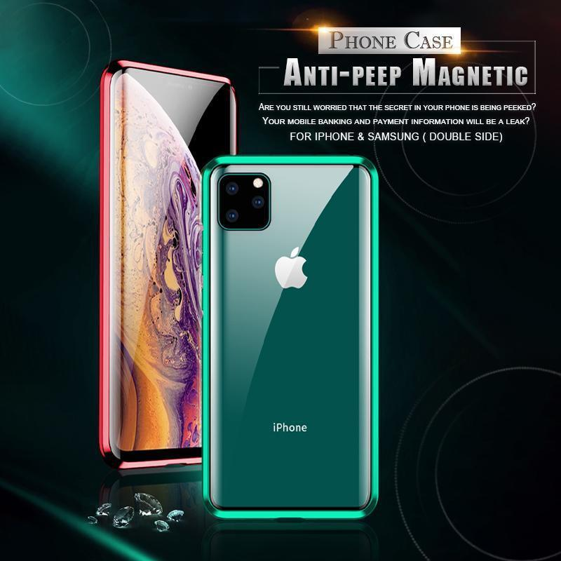 Anti-peep Magnetic Adsorption Phone Case For iPhone 11 Pro Max( Double Side)