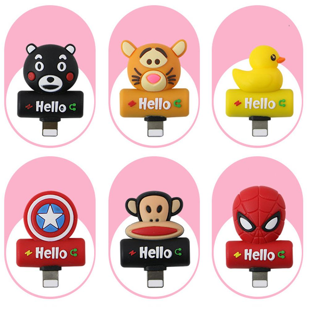 Cute silicone animal iPhone converter head