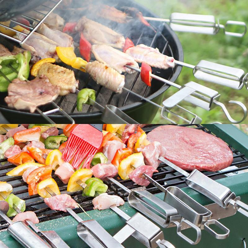 Stainless Steel BBQ Skewers (4 pcs)