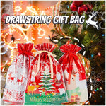 Mintiml One-Tug Bags Christmas Drawstring Gift Bag Set