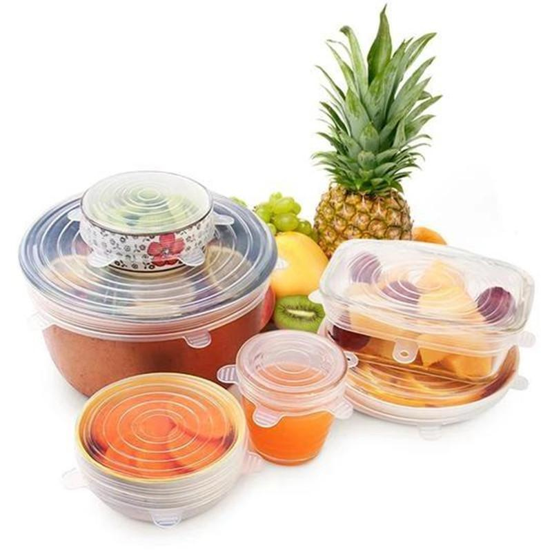 (6 pcs/set)Stretch & Fit - Silicone Stretch Lids