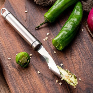 Stainless Steel Chili Corer Peppers Seed Remover