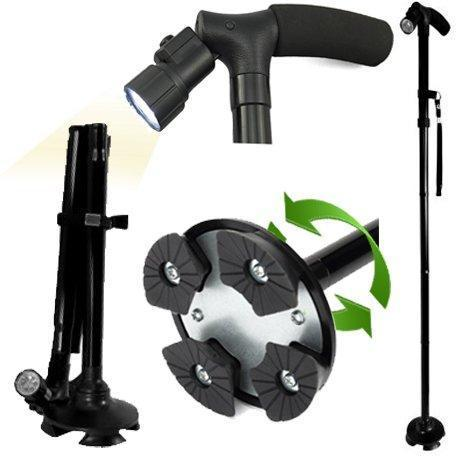 Multi-Function LED Folding Walking Stick