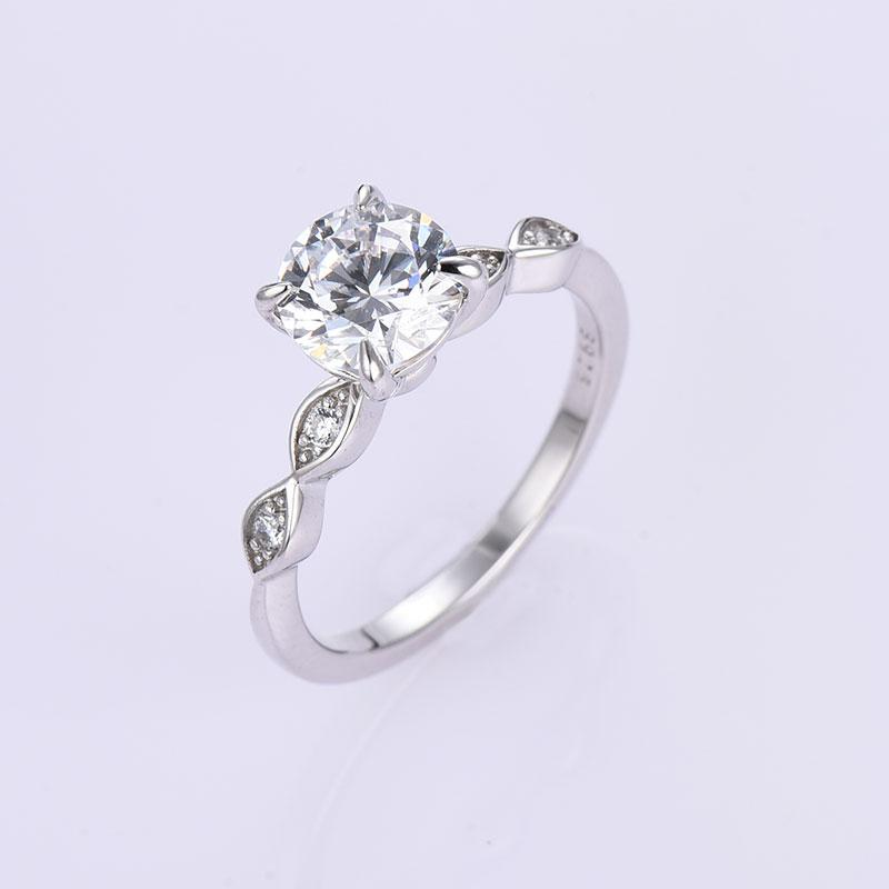 Hellojewelr Sterling Silver 7.0 Carat Round Cut 3PC Wedding Ring Set