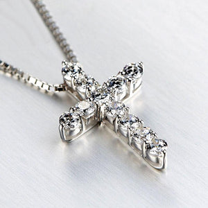 Hellojewelr Sterling Silver Fashion Cross pendant Necklace