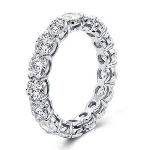 Hellojewelr Sterling Silver Classic Eternity Women's Wedding Band