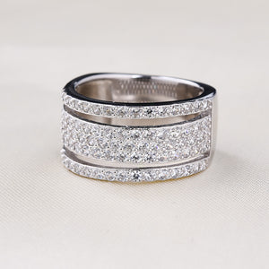 Hellojewelr Sterling Silver Fashion Women's Wide Band