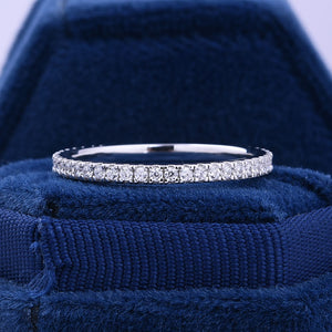 Hellojewelr Sterling Silver Classic Full Eternity Women's Wedding Band