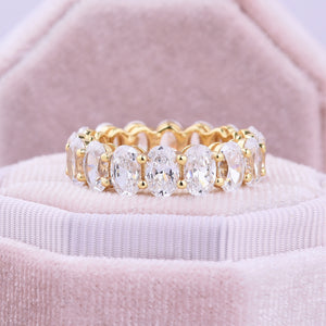 Yellow Gold 3.50 Carat Oval Cut Women's Wedding Set In Sterling Silver