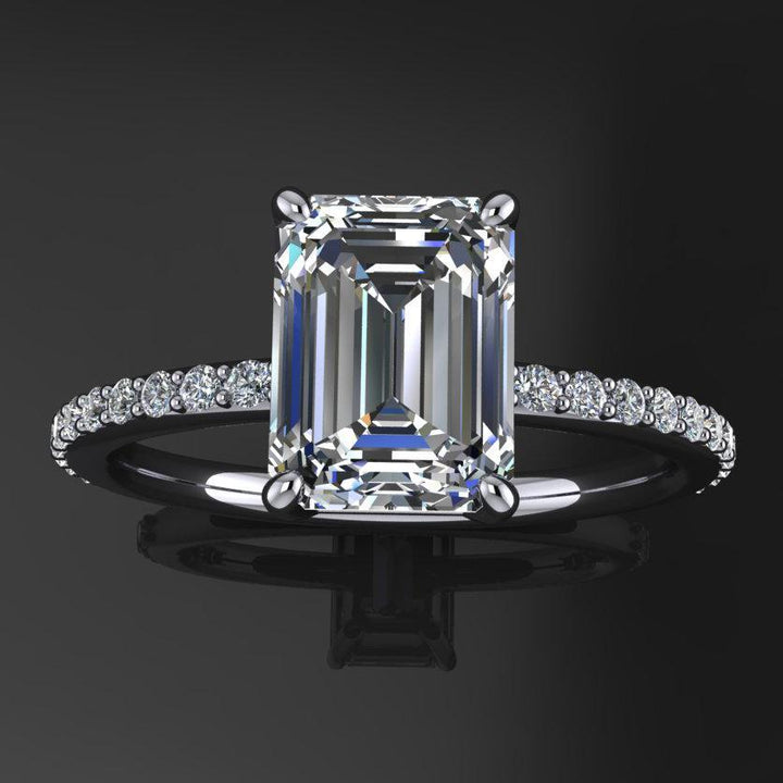 Hellojewelr Sterling Silver Gorgeous 5.0 Carat Emerald Cut Women's Engagement Ring