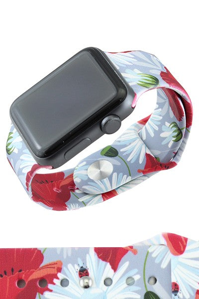 Daisy Floral Print Watch Band