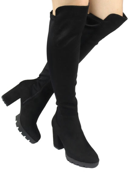 Black Tall Bootie