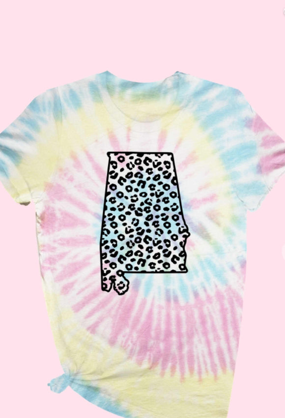 Tie Dye Sweet Home Alabama Tee