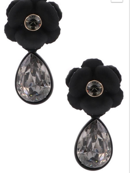 Glower Glass Teardrop Earrings