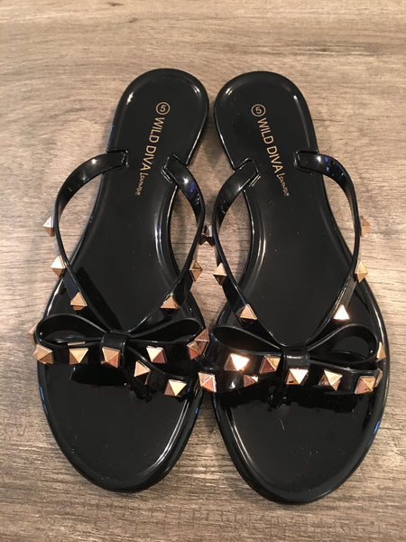 Joanie Black Sandals