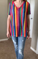 Multi Colored Stripe Top