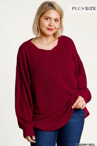 Plus Waffle Knit Top