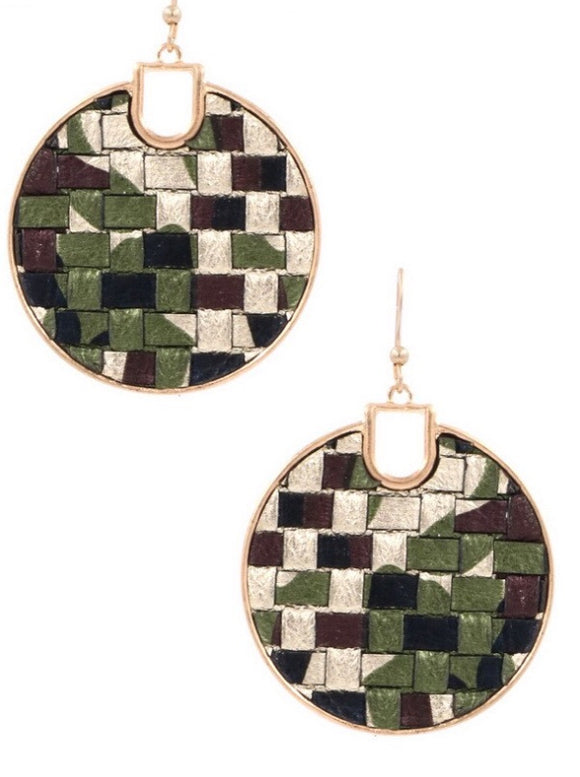 Fall Threaded Disc Earrings