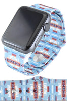 Blue Tribal Print 38 MM M/L Apple Watchband