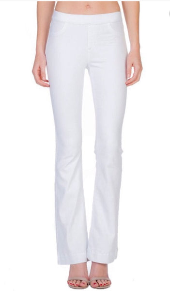White Flared Jeggings