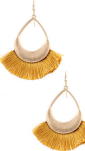 Fall Cotton Fringe Earrings