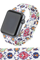 Floral Garden Print Watch Band