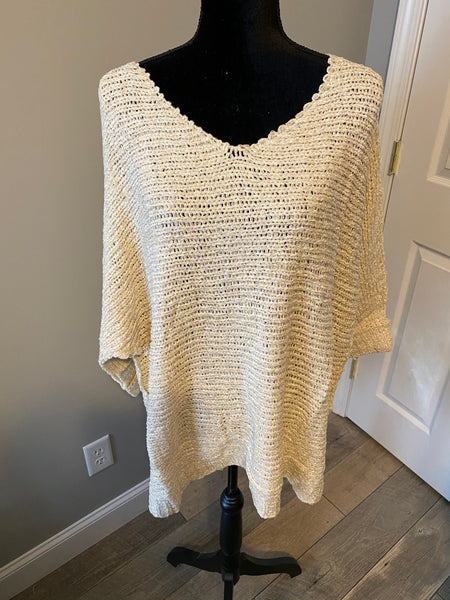 Plus Solid 3/4 Sleeve Sweater