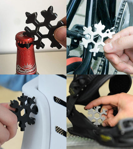 CRYSTOOL® 18-IN-1 ULTIMATE KEYCHAIN SNOWFLAKE MULTITOOL