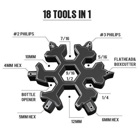18 in 1 snowflake multitool