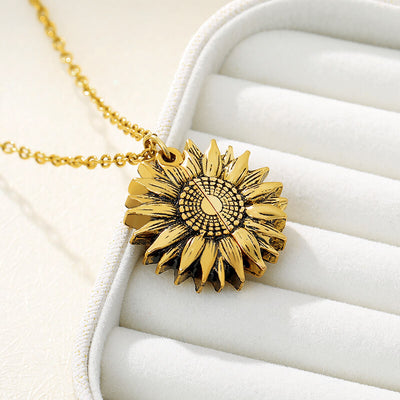 MY SUNSHINE SUNFLOWER NECKLACE