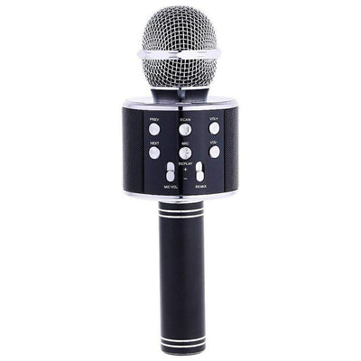 Black bluetooth karaoke microphone