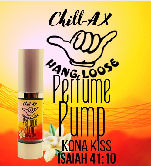 PERFUME PUMP WITH A PURPOSE CHILL-AX