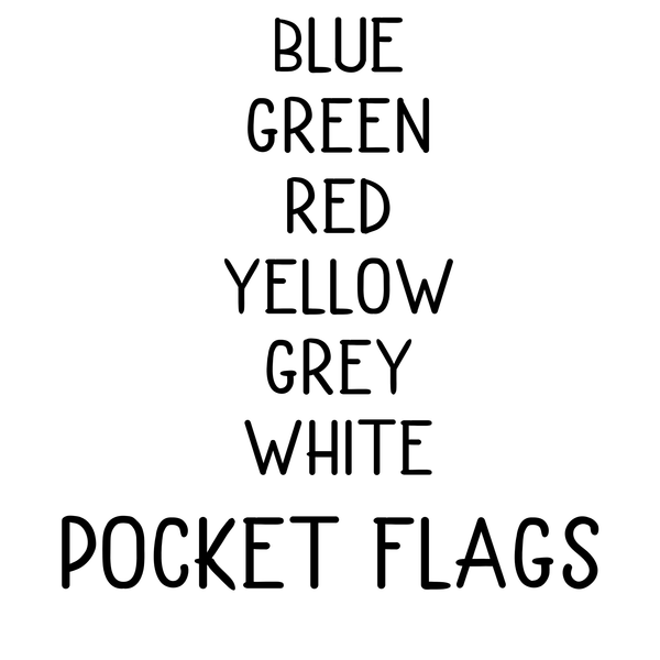Pocket Line Flags (multiple options) Screenprint