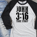 *BK EXCLUSIVE* JOHN 3:16 black screenprint