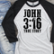 JOHN 3:16 black screenprint