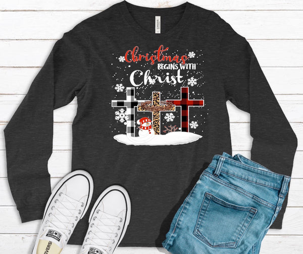 TODDLER/YOUTH Christmas begins with Christ screenprint