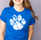 "11"" WHITE paw print Screenprint *ships 7/13"