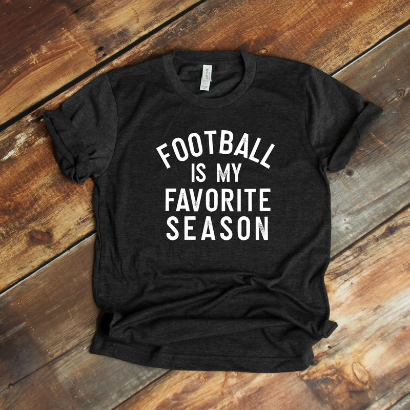 Football is my favorite season white screenprint *178