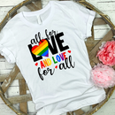 All for love and love for all full color screenprint