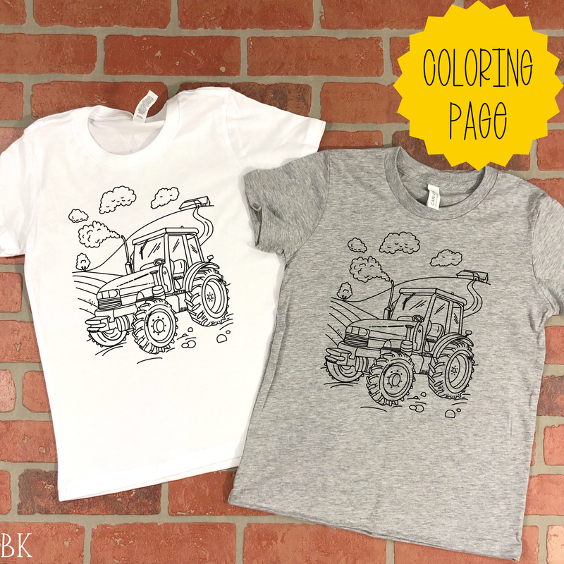*BK EXCLUSIVE* Farm coloring page black screenprint