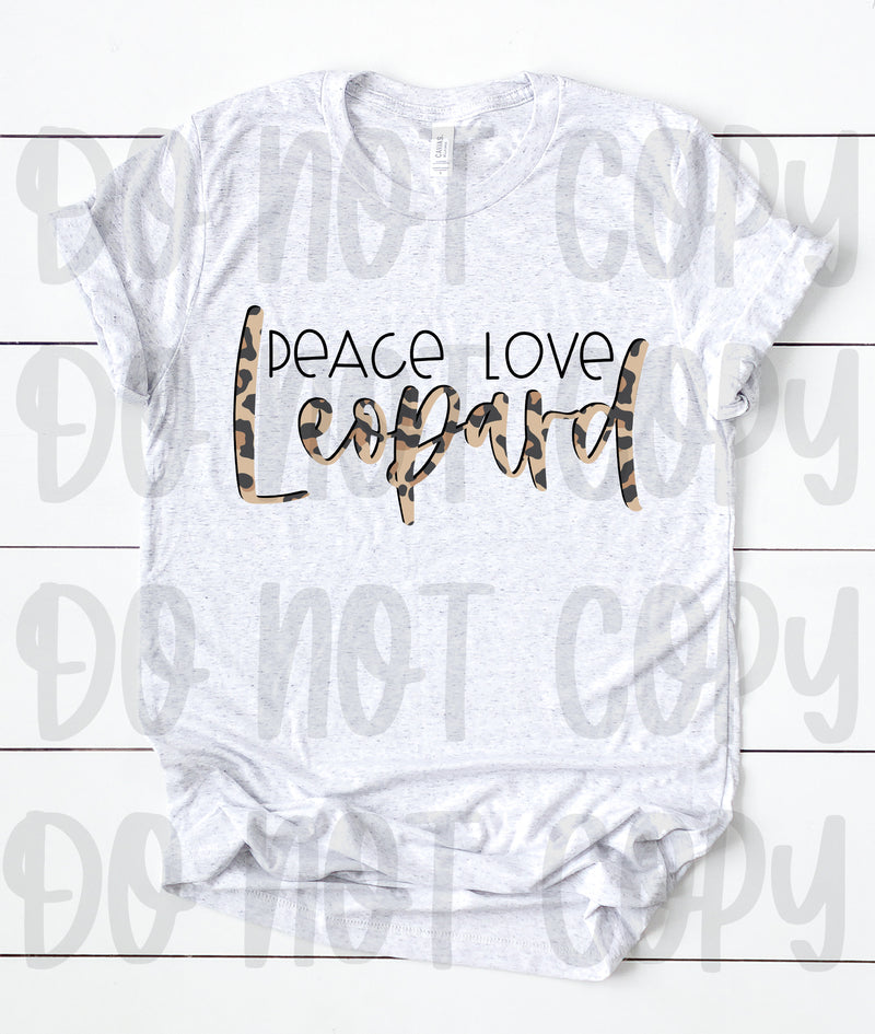 Peace love leopard