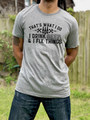 *BK EXCLUSIVE* Drink beer and fix things black screenprint