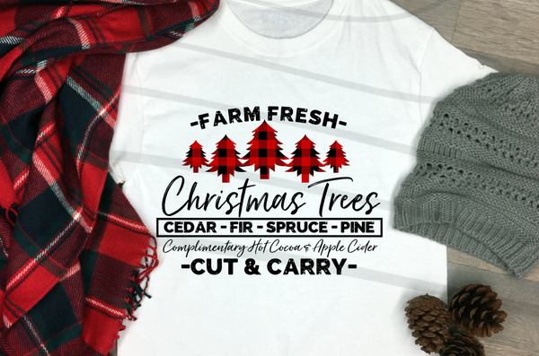 FARM FRESH CHRISTMAS TREES SCREENPRINT