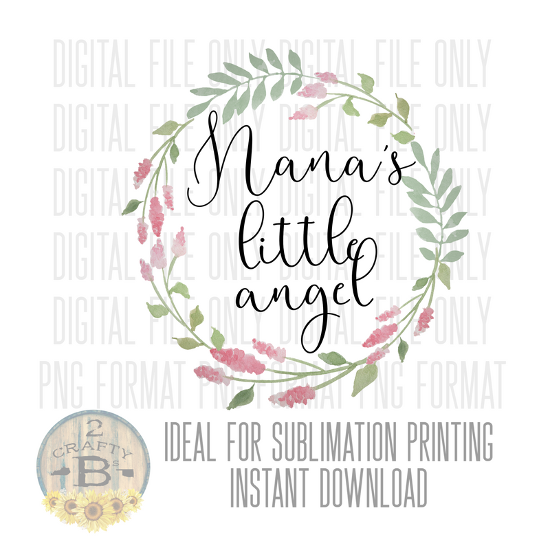 DIGITAL DOWNLOAD PNG-NANAS LITTLE ANGEL