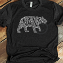 *BK EXCLUSIVE* Nana bear word art white Screenprint