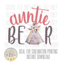 DIGITAL DOWNLOAD PNG-Auntie bear